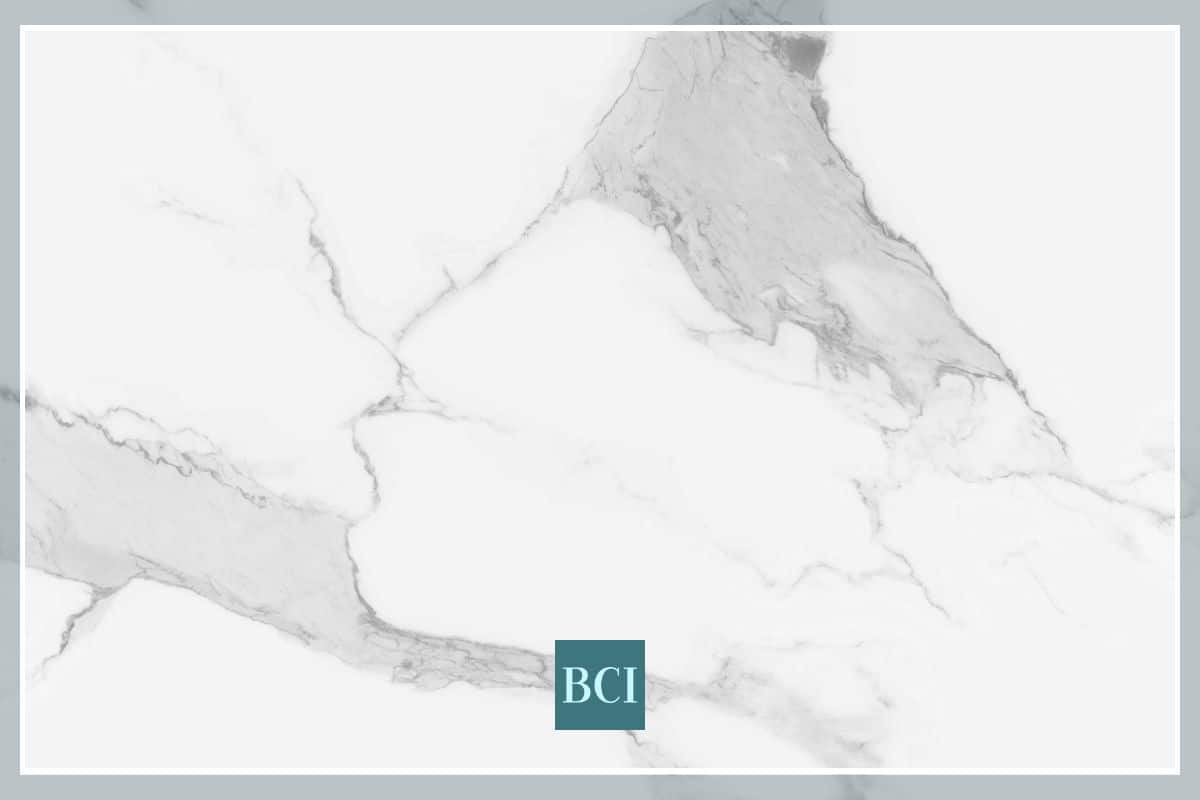 Photo collage of marble countertop material.