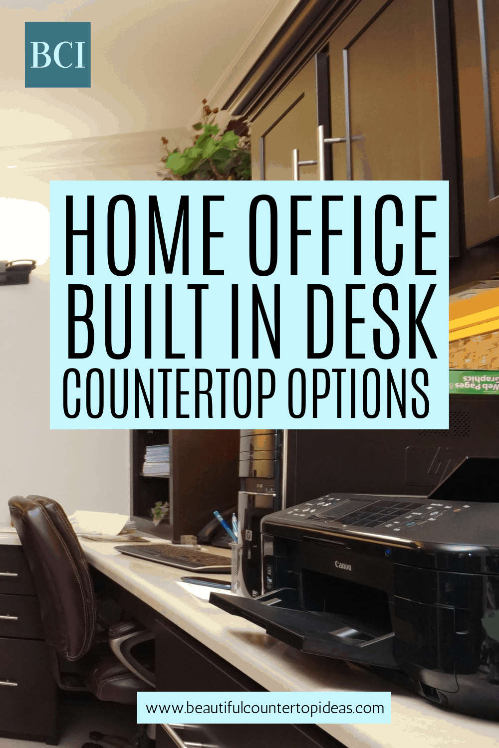 With everyone doing WFH and remote learning, a home office built in desk might be a good idea. Get advice on the countertop options out there.