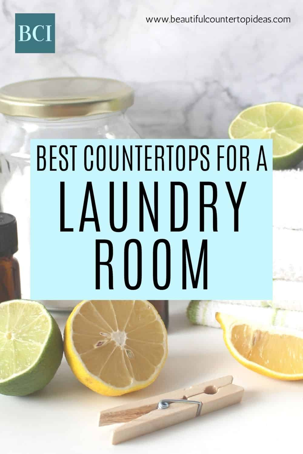Ready to update a laundry room? Get advice on choosing a laundry room countertop, and make your time washing clothes a little more enjoyable.