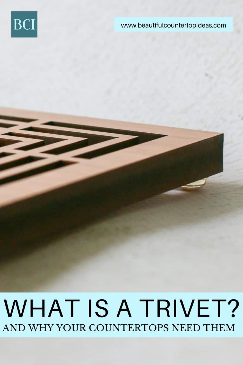 """Have you found yourself wondering """"What is a trivet?"""" Find out the answer and why they are essential to keeping kitchen countertops looking great."""